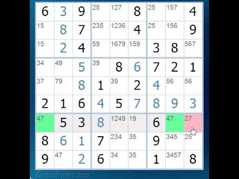 Sudoku Tutorial 2 - Naked Pairs