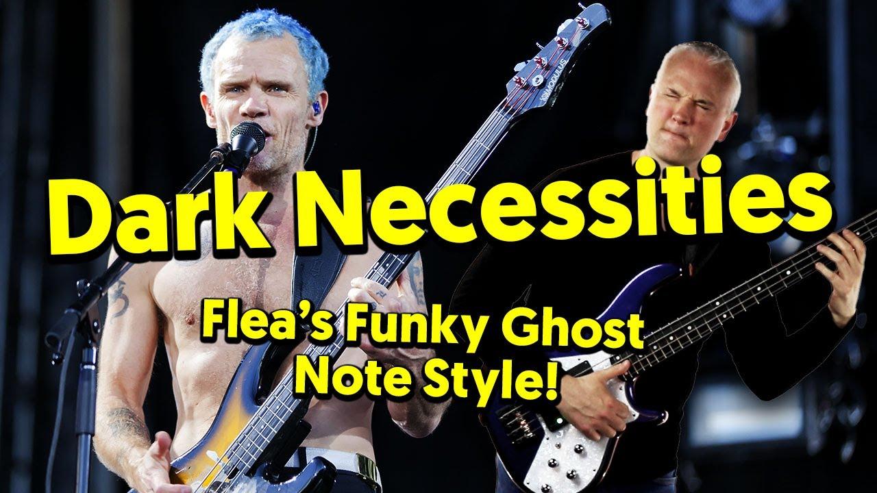 (9) Dark Necessities [RHCP] – Flea's Funky Ghost Note Slap Style! (Tabs