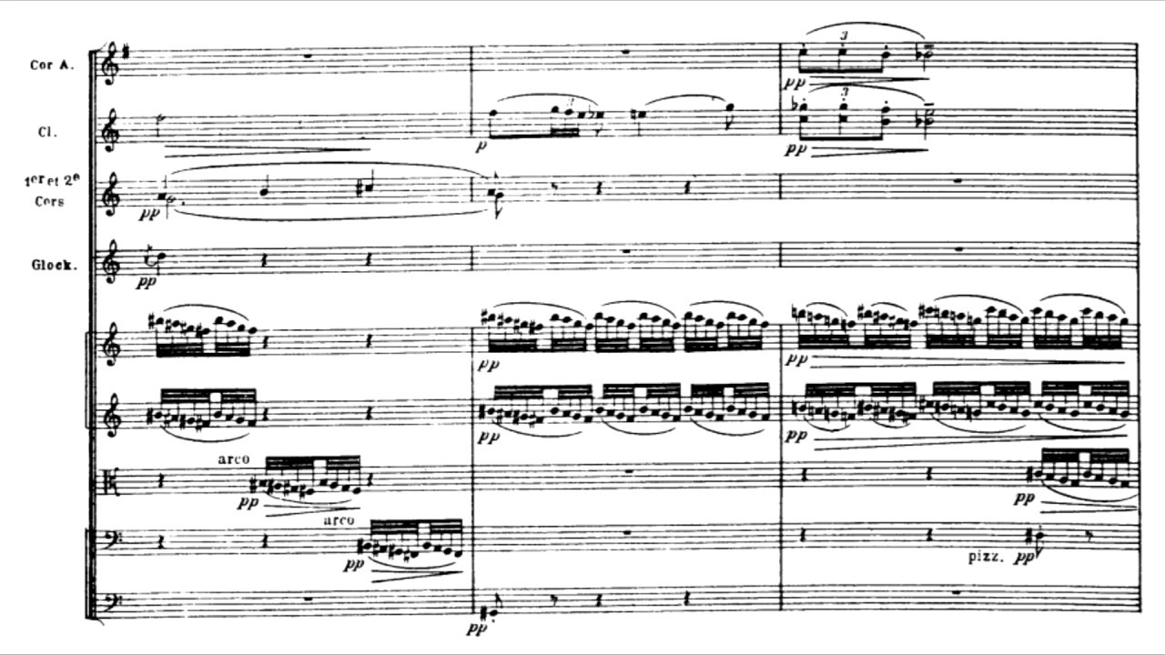Claude Debussy - La Mer (with score) - YouTube