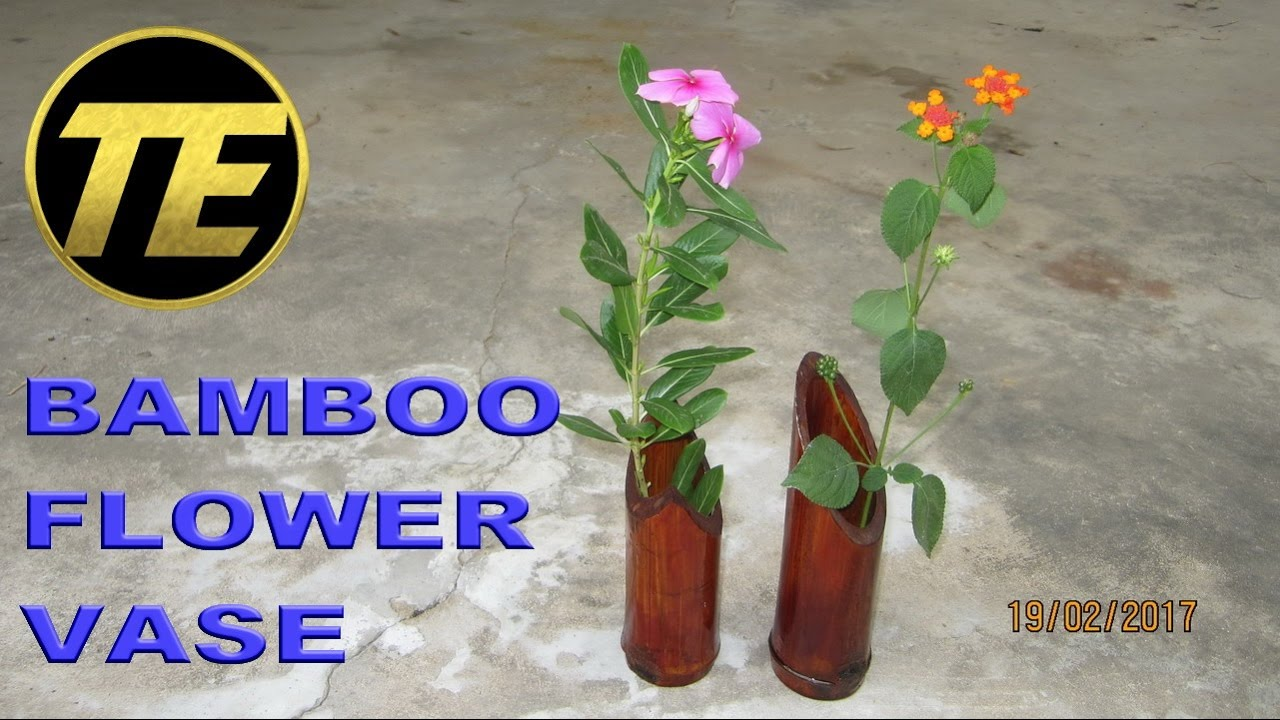 How To Make A Bamboo Flower Vase Youtube