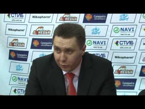 Пресс-конференция БК Донецк - БК Николаев 21.03.2014, при поддержке Дядечко Сергея