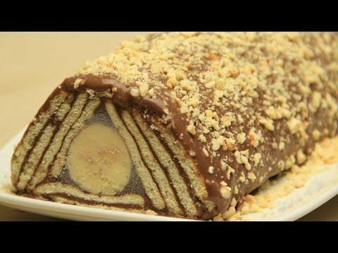 Muzlu Mozaik Pasta Tarifi - Çikolatalı Pudingli Piramit Bisküvili Pasta