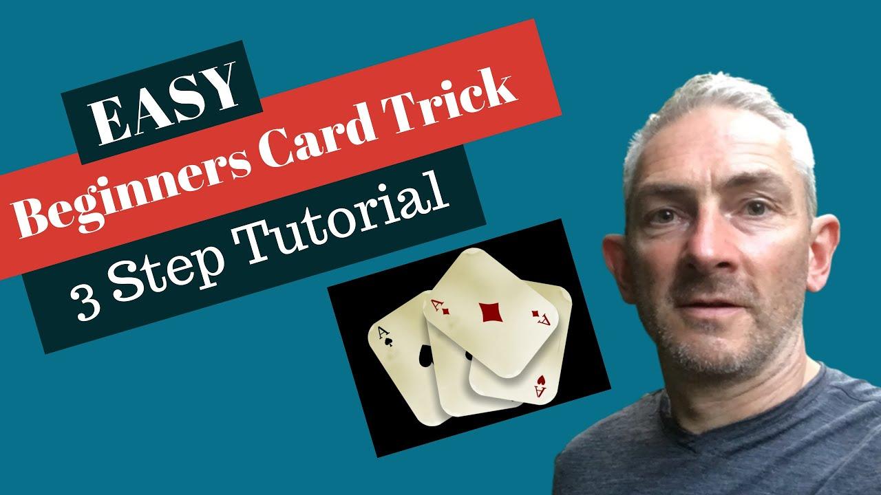 easy beginners card trick  3 step tutorial  youtube