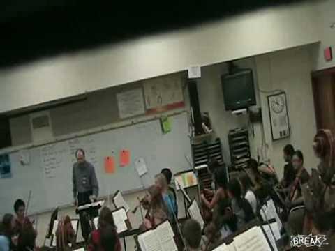 Angry Crazy Music Teacher Destroys Students Violin