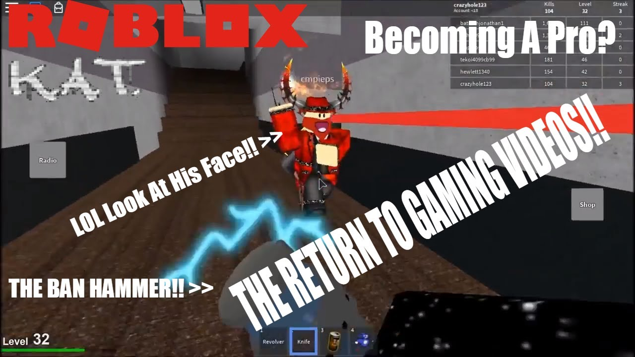 The Return Of Gaming Videos!! | Roblox | K A T (VOICE REVEAL!!)