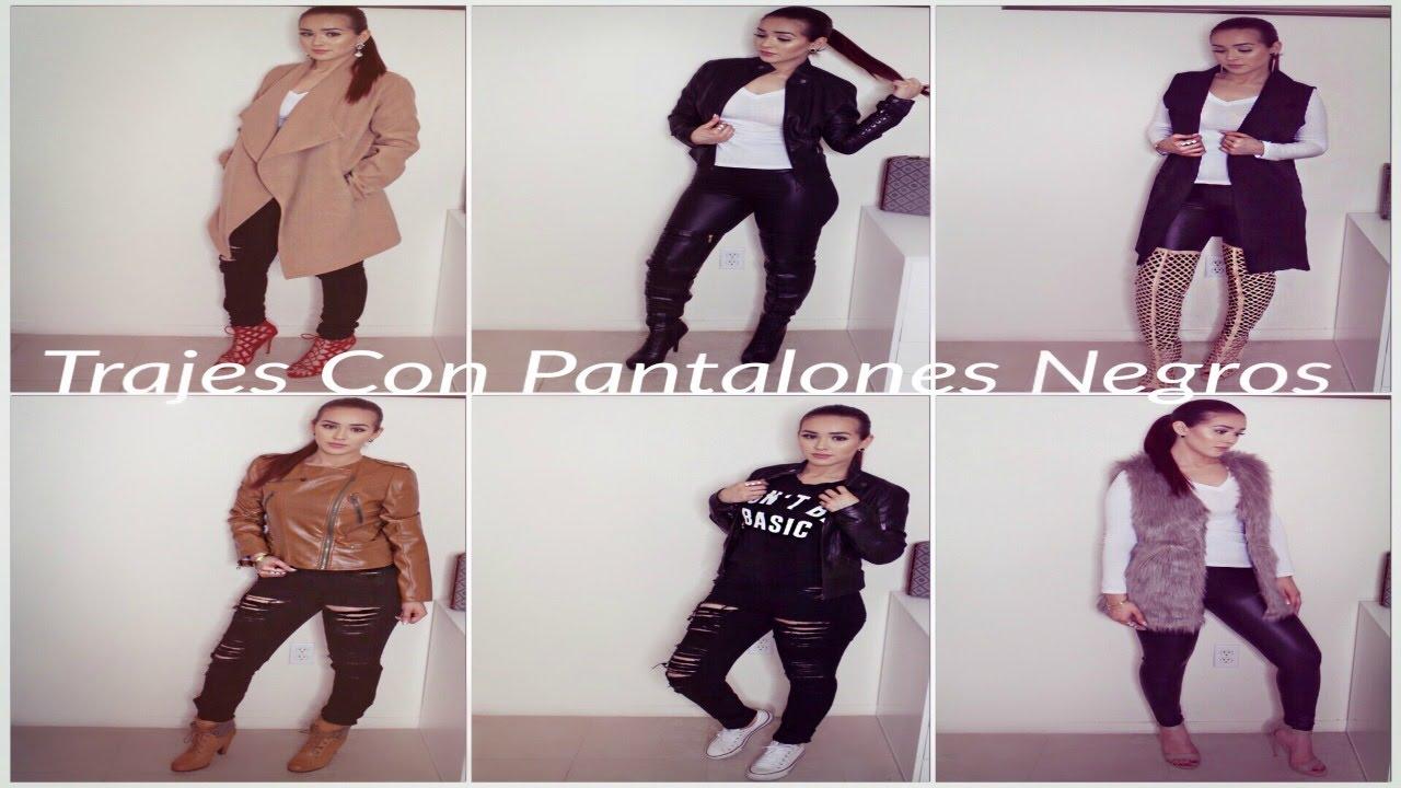 Trajes con Pantalones Negros (colores neutrales) - YouTube