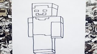 Como dibujar a herobrine | how to draw herobrine
