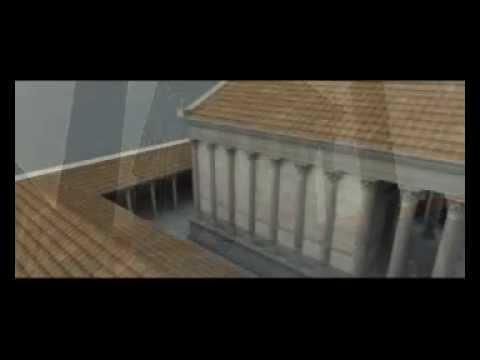 Templo Romano 3d. Virtual Roman Temple