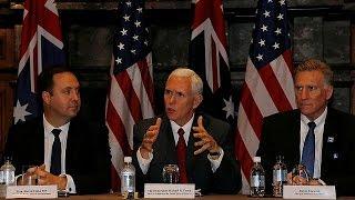 Kuzey Kore gerginliği devam ediyor Mike Pense Avustralya'da Video