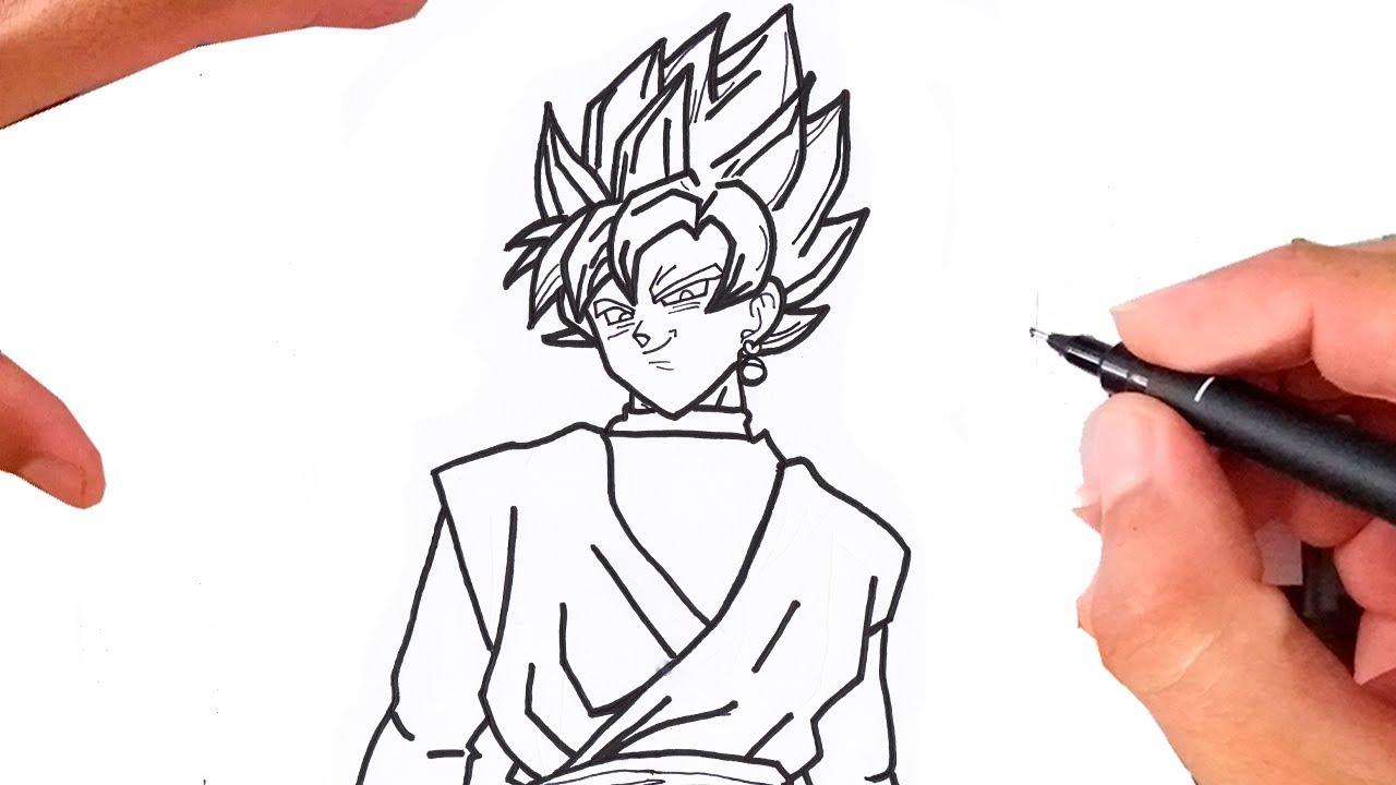 Desenhos Para Colorir Colorir Goku: Como Desenhar GOKU BLACK SSJ Rose