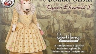 Bull Terrier, Queen Elizabeth I, Robert Harrop Designs, Dog Figurine