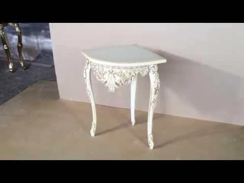 Консоль-столик Plaza, слоновая кость (EL 8204 sk)