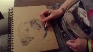 Boarder Terrier Speed Drawing - Pawtrait Emporium (loveridge Design Studio)