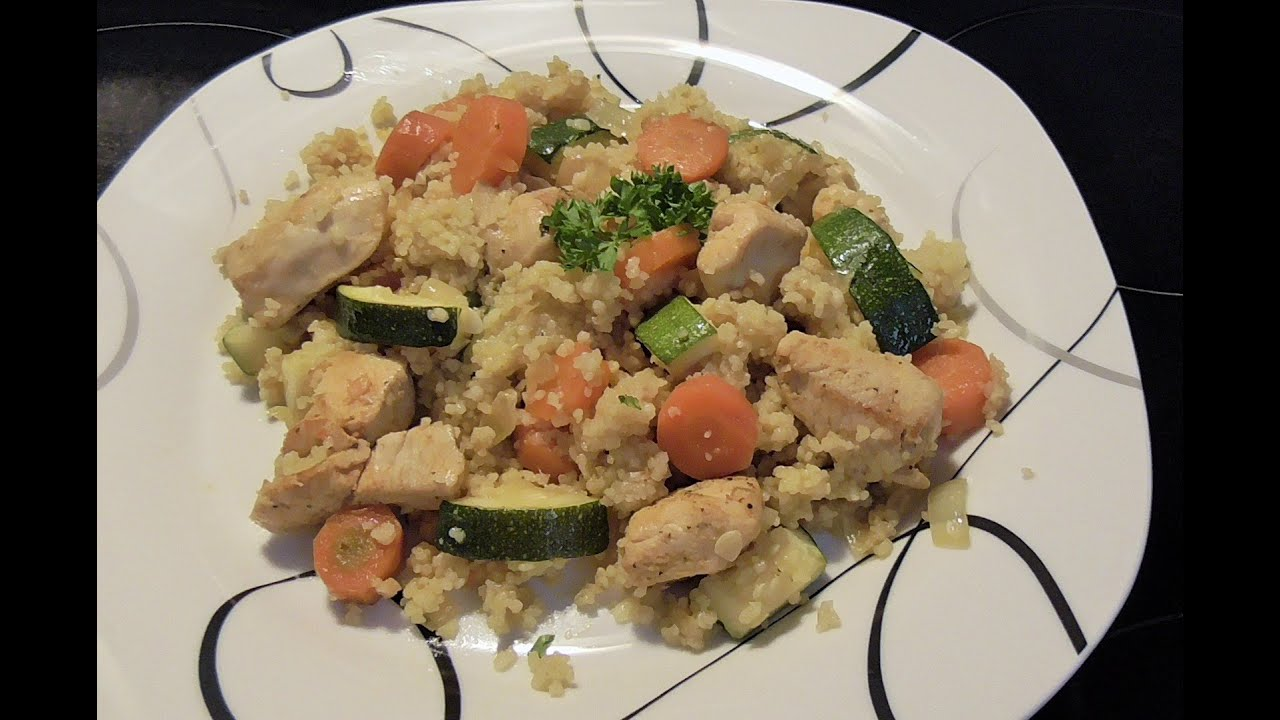 Couscous Pfanne Mit Gemüsse Youtube