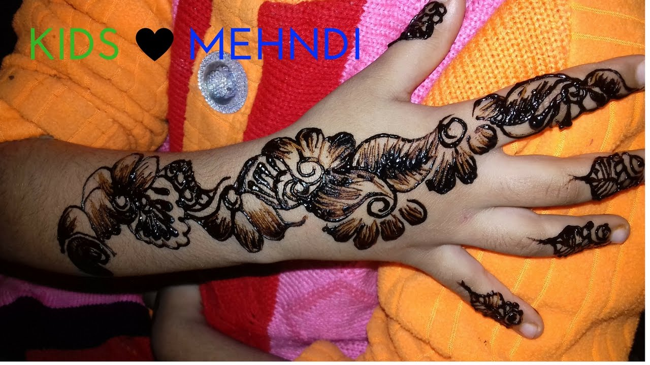 Mehndi For Children : Mehndi designs for kids simple easy way youtube