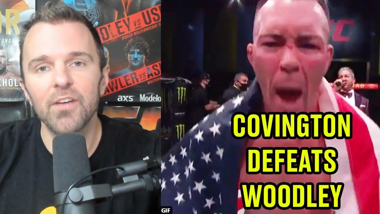 REACTION: Colby Covington TKO's Tyron Woodley I UFC Vegas 11