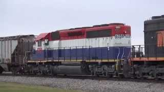 Wheeling And Lake Erie Railroad Trains In Northern Ohio 12/23/14