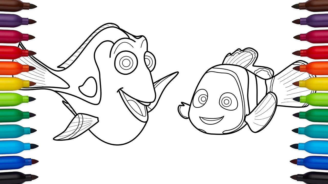 Nemo Y Dory Para Colorear: How To Draw Dory And Nemo From Finding Nemo And Finding
