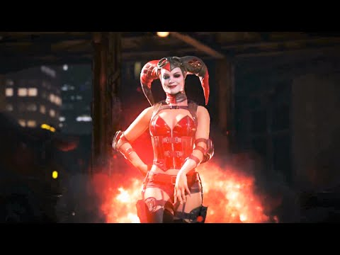 Injustice 2 - Harley quinn All Intros/Outros and NEW Gear Customs!!!!!!!!!!!!!!