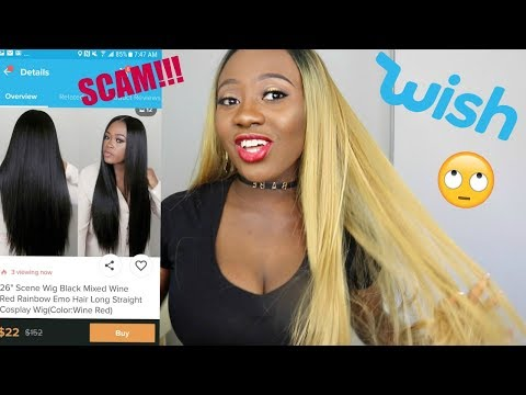 I BOUGHT A WIG FROM WISH APP - WTF IS THIS!?? - YouTube