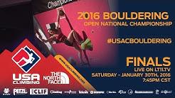 Bouldering National Championships • Finals • 1/30/16 • LIVE 7:45PM CST