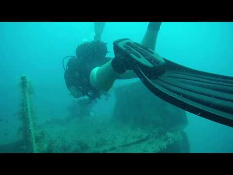 Scuba Diving Lady Thetis wreck, Limassol Wrecks 11.9.17