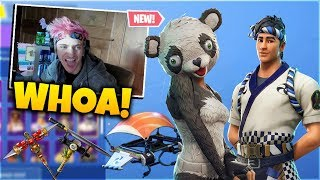 NINJA REACT TO NEW *PANDA* TEAM LEADER & *SUSHI* Master Skin - Daily Fortnite Funny Moments Ep.6