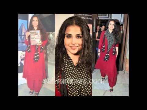 www.salwartimes.com-Vidya Balan in Designer Salwar Kameezes