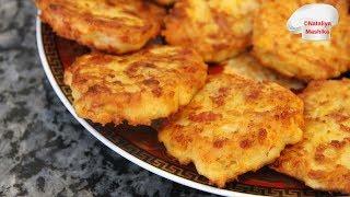 Вкуснятина за считанные минуты.Кукурузные оладьи с сыром и колбасой. Очень быстро и очень вкусно!