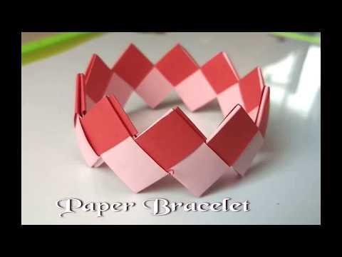How to make Bracelet form Paper ll Paper Bracelet ll पेपर से ब्रस्लैट कैसे बनाये ll easy n simple ll