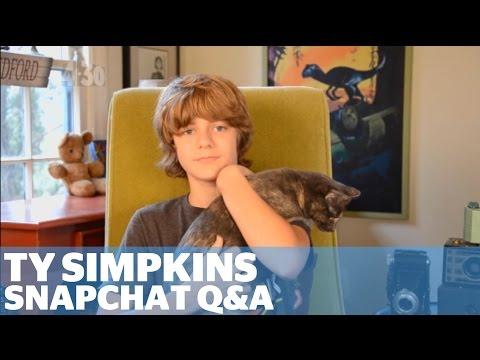 Ty Simpkins Jurassic World  Snapchat Q&A