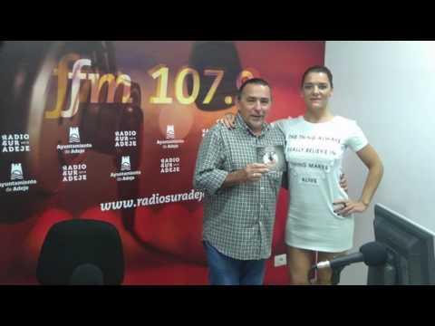 Entrevista de Marianne Robiou a Radio Sur Adeje julio 2016 con Nacho Palacio