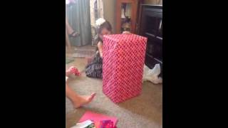 Ella Opening American Girl Doll Bed 6th Birthday