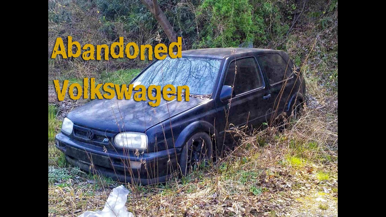 Abandoned Volkswagen. Old Volks abandoned. Germany cars abandoned. Verlassenes auto - YouTube