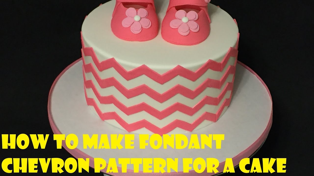 How to make fondant chevron pattern for a cake youtube for How to make a chevron template