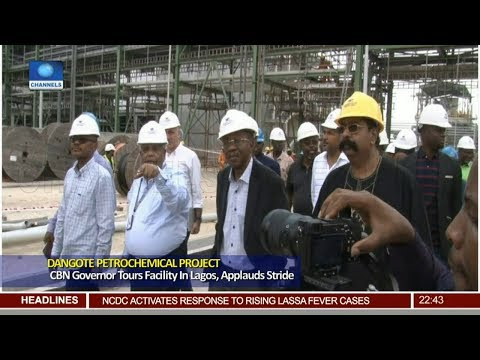Dangote Refinery: CBN Governor Tours Facility In Lagos, Applauds Stride
