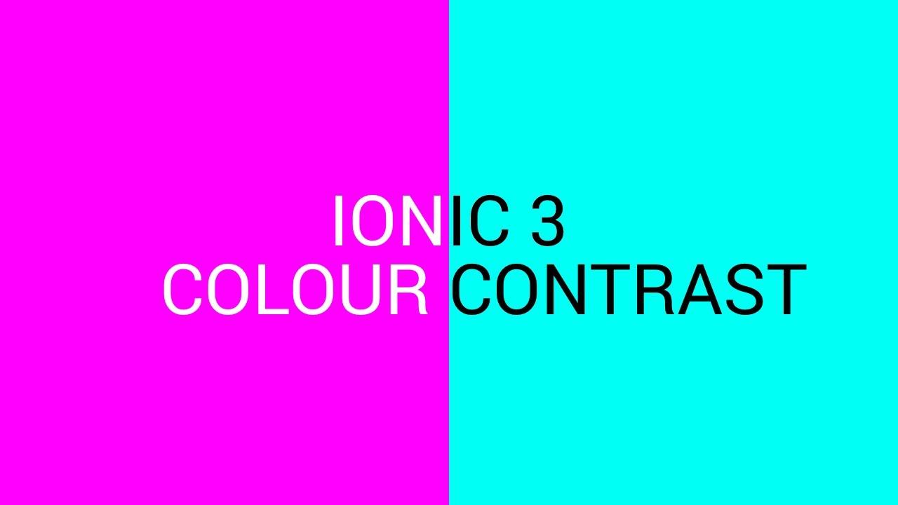 Ionic 3 - Colour Contrast