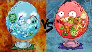 Plants vs Zombies 2 (FIRE vs ICE) All Plant Level Max Power Up! Plant vs Plant
