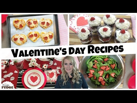 EASY VALENTINE'S DAY RECIPES to make with KIDS ❤ Valentine's Dinner 2018