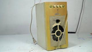 I Restored This Yellowed & Broken speaker | restore very ancient antique speakers