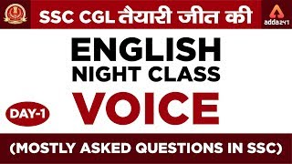 SSC CGL | English Night Class | VOICE ( Mostly Asked Questions in SSC ) | 12:00 AM thumbnail