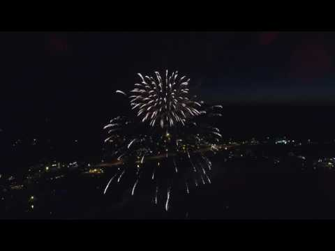 July 4, 2016: Town of Meredith, New Hampshire Fireworks (Drone View), 1080p