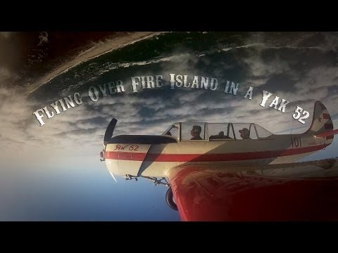 Flying Over Fire Island In A Yak 52 - Aileron Rolls