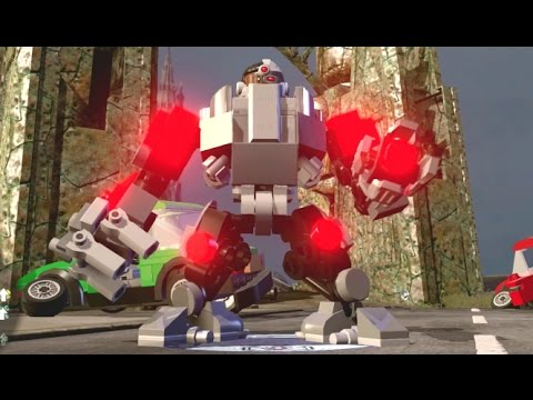 LEGO Dimensions - Cyborg Open World Free Roam (Character Showcase)
