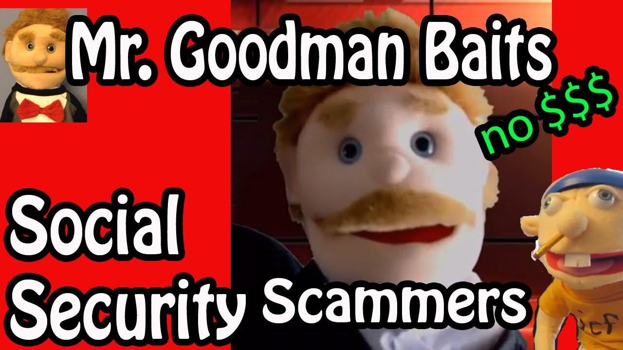 Richard Goodman Calls Social Security Scammers Puppet Humor Scammers Humor Social Security Office
