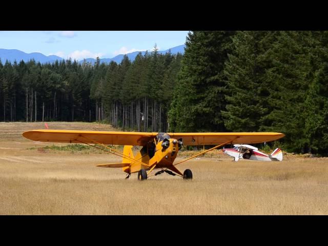 Bills takeoff from McKenzie Bridge state airport