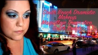 South Beach At Night Blue Dramatic Cut Crease - South Beach De Noche Look Dramatico En Azul