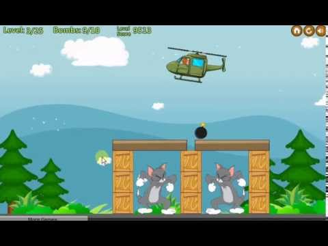 tom va jerry lai truc thang – Jerry's bombing helicopter
