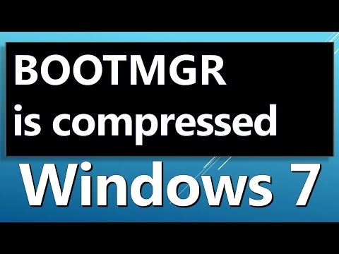 BOOTMGR is Compressed HOW TO FIX -system recovery