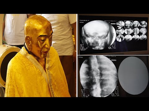 Thumbnail: Perfectly preserved Gilded Golden body of 1000 y.o MONK still has Healthy Bones and Brain